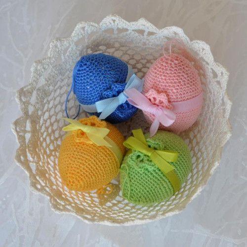 Velikonoční vajíčka s mašlí - sada něžná