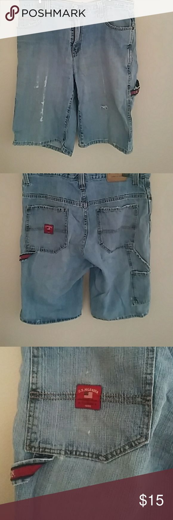Polo jean shorts Men's 33 u.s.polo shirts worn painter shorts U.S. Polo Assn. Shorts Jean Shorts