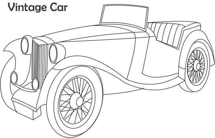 Jaguar Old Racing Car Coloring Page Free Online Cars Coloring - printable car template