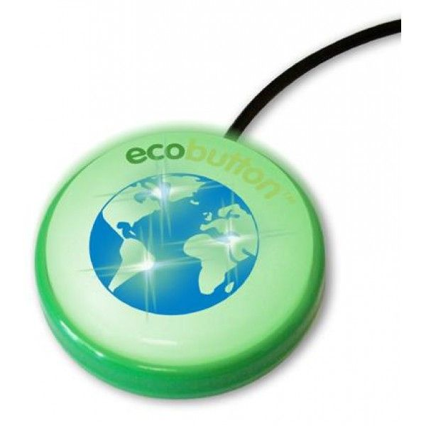 ECOBUTTON Halo Home version - Energy Saving Products. This Ecobutton Halo Home version is a power saving tool for personal computers. Ecobutton is extremely visible and glows to serve as a reminder that you have to press it every single time the PC is left idle