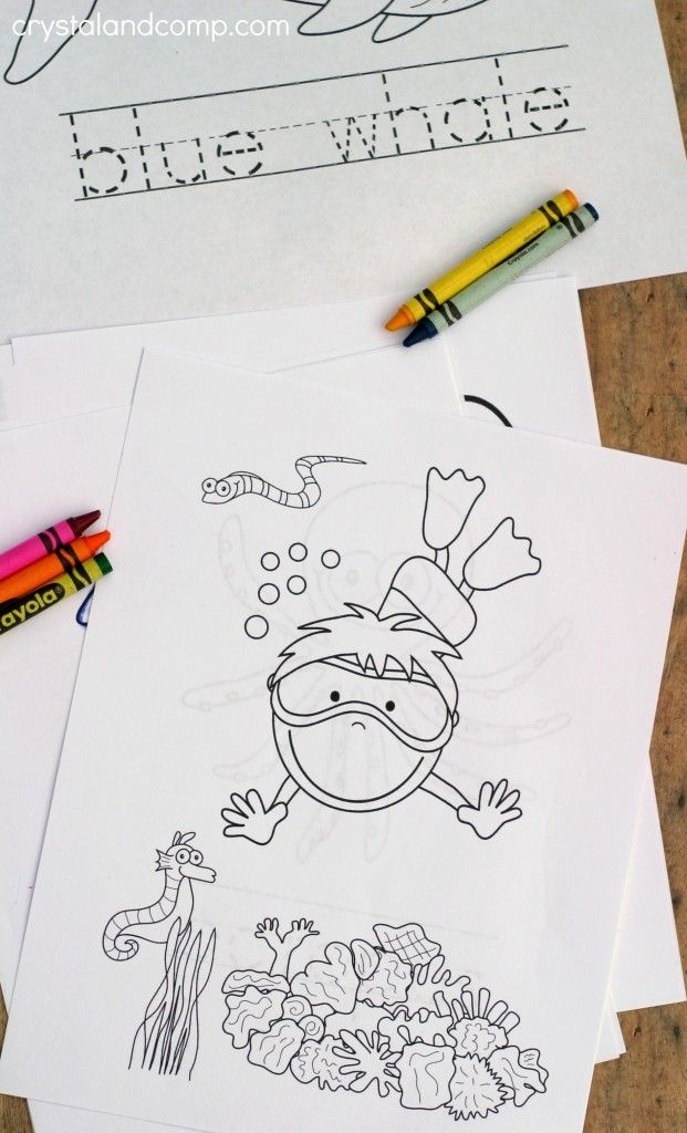Free under the sea ocean color pages