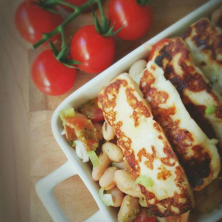 Haloumi & Bean Salad