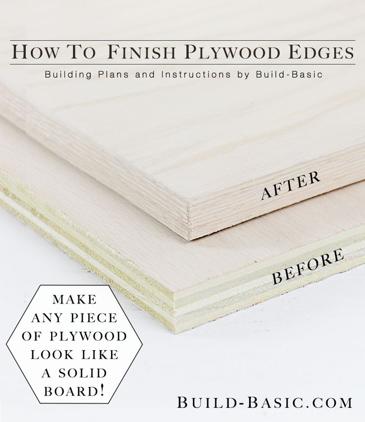 How to Finish Plywood Edges Photo by Build Basic