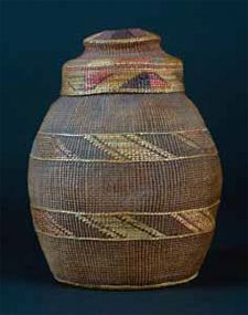Tlingit People, Pacific Northwest  Basket with lid, early 20th century