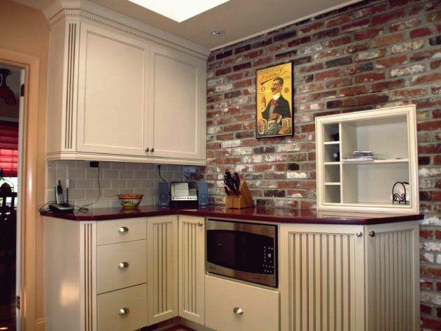 20 Atemberaubende Kuchen Mit Backsplash Aus Backstein Fur Eine Angenehme Atmosphare Brick Wall Kitchen Brick Backsplash Brick Kitchen