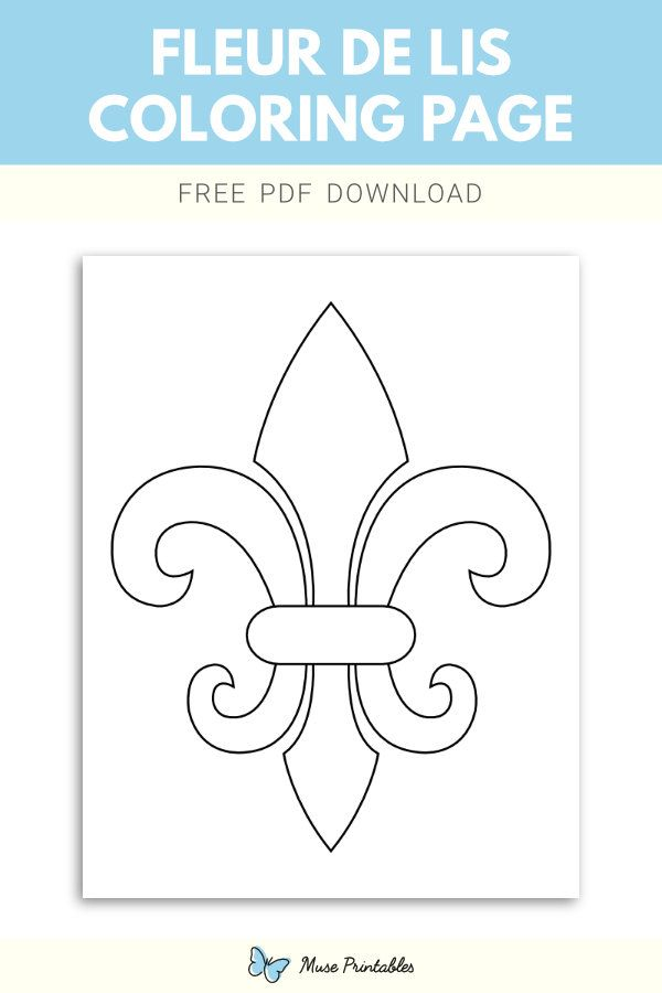 Free Fleur De Lis Coloring Page Super Coloring Pages Easy Coloring Pages Mickey Mouse Coloring Pages