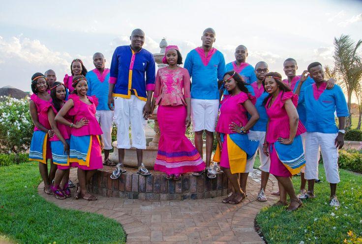 bridesmaids and groomsmen sepedi tradition