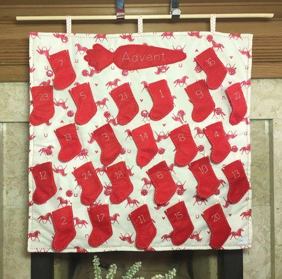 Horse Advent Calendar, Pony Advent Calendar, Fabric Advent Calendar