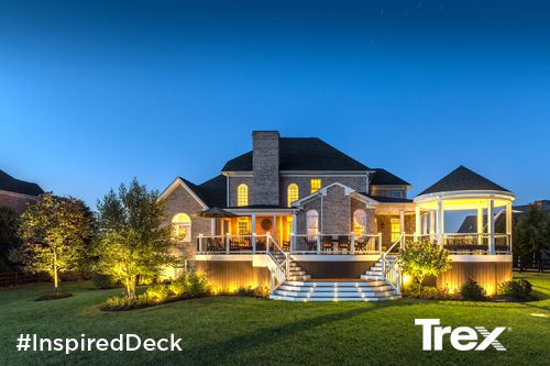 Make your outdoor living space a little bit brighter by using Trex Outdoor Lighting. See more inspiring deck and lighting designs at Trex.com. #InspiredDeck #sweepstakes