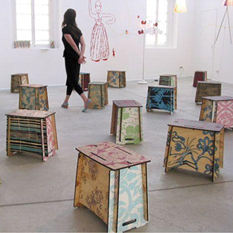 flat pack furniture design. zaishu stool ecofriendly flatpack furniture as social art project treehugger flat pack design