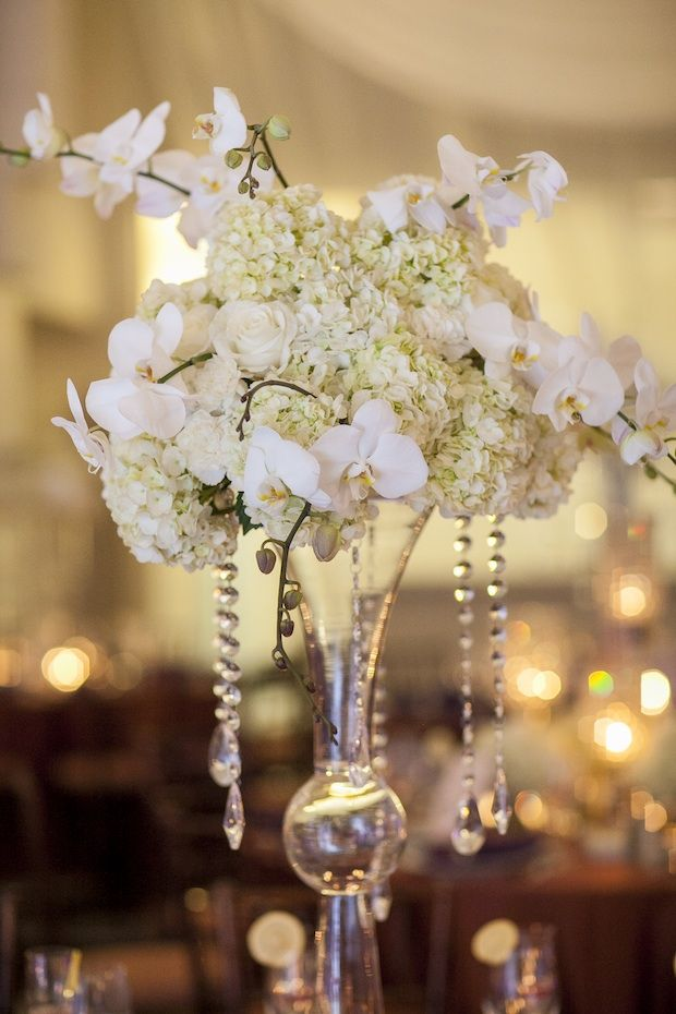 hanging crystals for wedding centerpieces. beautiful blooms love me do photography curtis center cescaphe event group hanging crystals white and ivory wedding phalenopsis orchids for centerpieces n