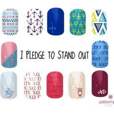 Perfect gift for pledges! Jamberry nail sorority nail wraps!!! sweetnolajams.jamberrynails.net
