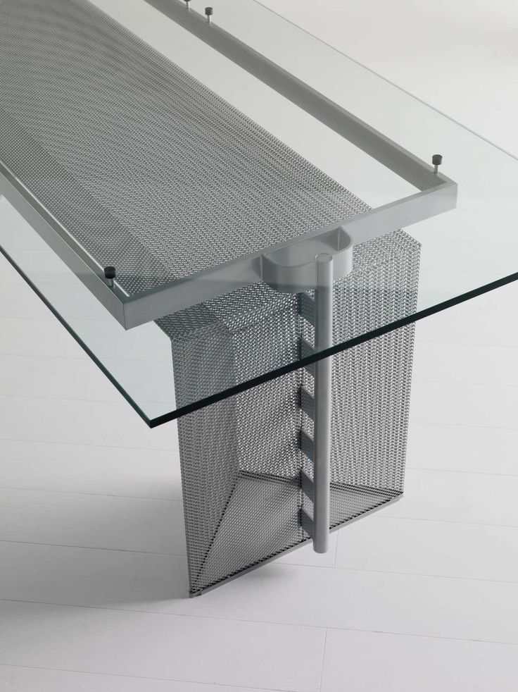 Multimedia desk / contemporary / steel / by Mario Botta - TESI - ALIAS