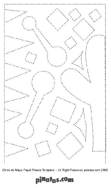 How to make papel picado free printable papel picado for Papel picado template for kids