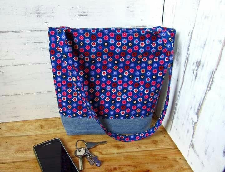 Virágos táska, big bag