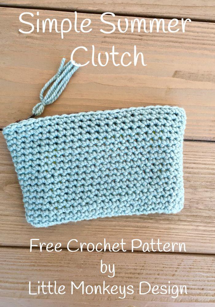 Simple Summer Clutch By Little Monkey Shop - Free Crochet Pattern - (littlemonkeysdesigns)