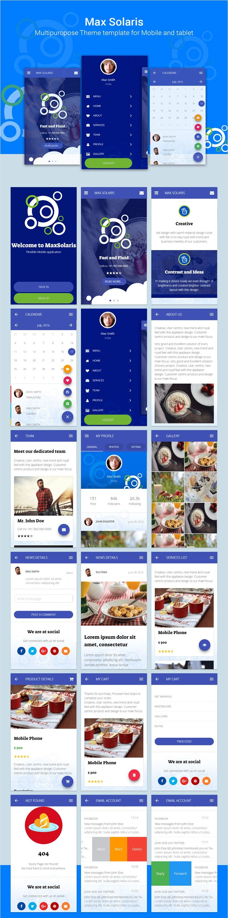 Max Solaris is best, creative and cheerful Multipurpose #mobile and #tablet responsive #HTML template with 20+ color combinations along with two layout theme light & dark download now https://themeforest.net/item/max-solaris-responsive-tablet-and-mobile-html-template/17127123?ref=Datasata