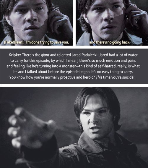 4x22 GIFset commentary by Eric Kripke #Supernatural
