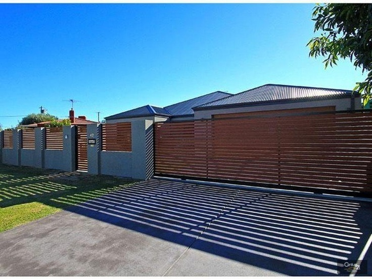Beautiful Boundary Wall Design : Best images about outside on wood gates