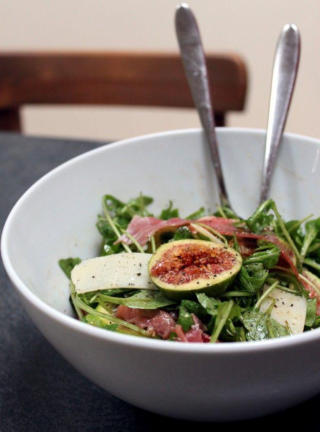 Salade mixte roquette & figues (recette de torchons & serviettes)