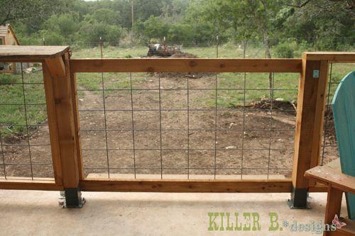 Rolling Modern Porch Gate