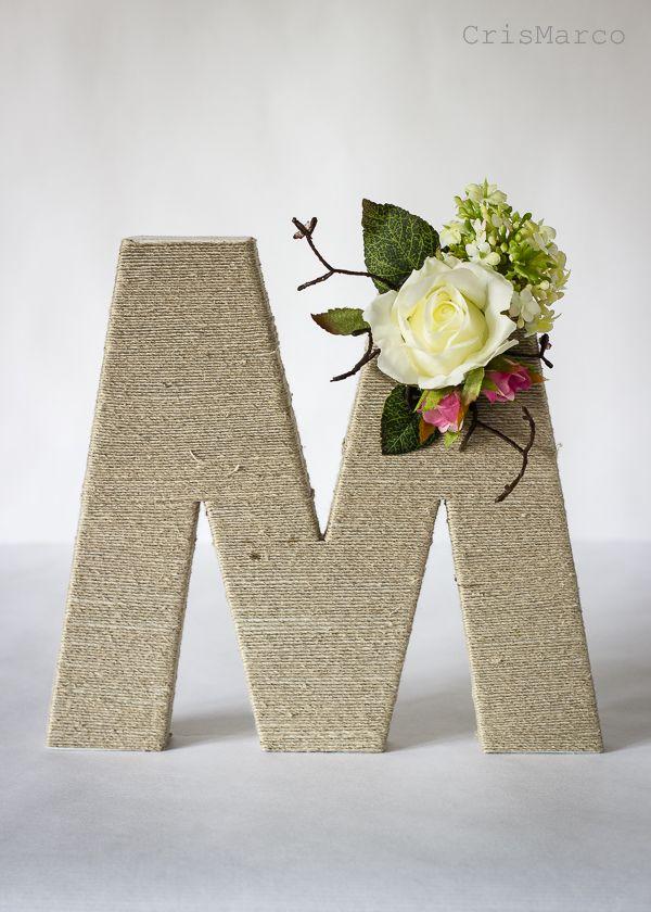 Como decorar letras para bodas, mas detalles en el blog