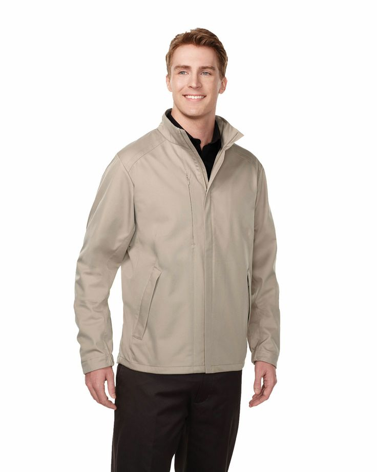 Mens bonded jacket w/strom flap, two slash zip pocket.Tri mountain J6408 #Men #Trimountain #Jacket #slashzip