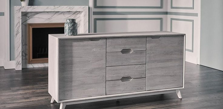 Sideboards, Whitewash Buffets Sideboards Painted Buffet For Sale Trendy Modern Mid Century Sideboard Design With Grey Wooden Drawer And Doors: stunning whitewash buffets sideboards