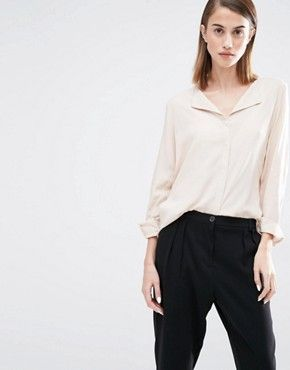 Just Female   Just Female Blank Strip Zip Back Crop Top at ASOS