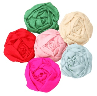 An enchanting embellishment! This most feminine rosette brooch is delicately crafted and  hand-made from the softest 100% parachute silk.