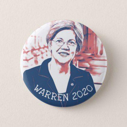 ELIZABETH WARREN 2020 Presidential Election Button - accessories accessory gift idea stylish unique custom