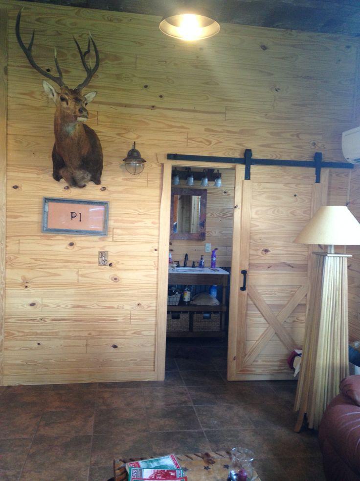 Beautiful Tongue And Groove Wall. Rustic Wall. Sliding Barn Door. Brad Hartt  Construction.