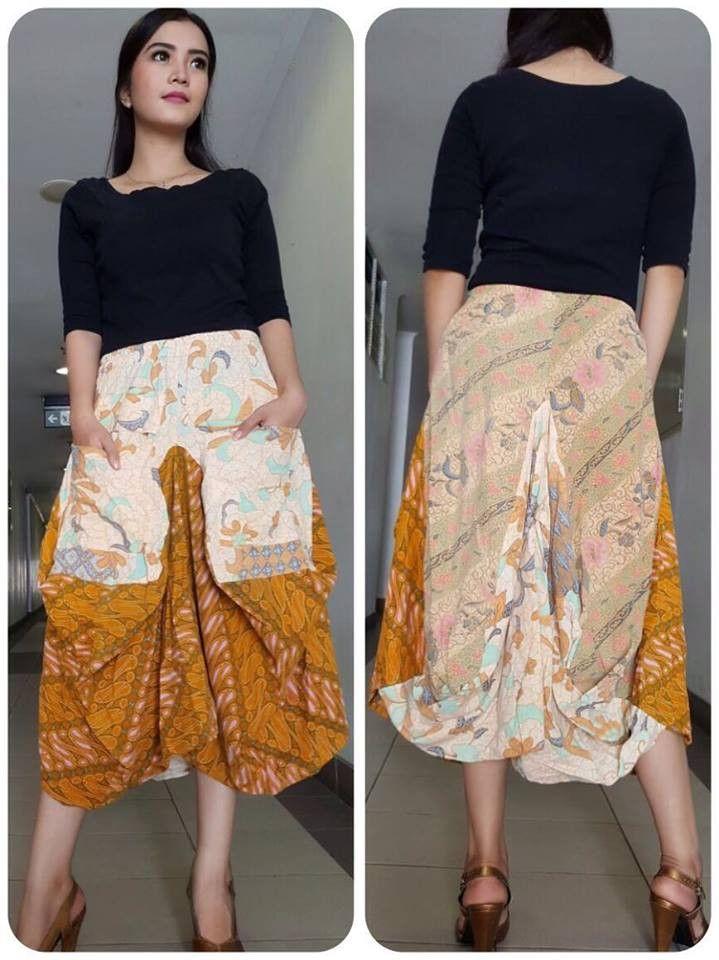 Batik Lawasan Skirt Brown Cream All Size