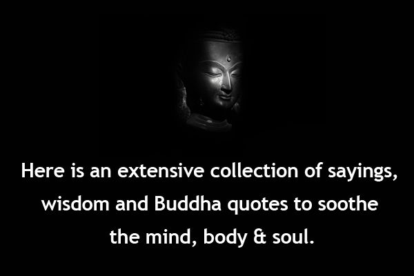 """Here is an extensive collection of sayings, wisdom and Buddha quotes to soothe the mind, body & soul. 1.On Loving Self: """"If your compassion does not include yourself, it is incomplete."""" """"You can search throughout the entire universe for someone who is more deserving of your love and affection than you are yourself, and that … Continue reading Buddhist Quotes, Buddhist Sayings, Buddhist Wise Words, Buddhism"""