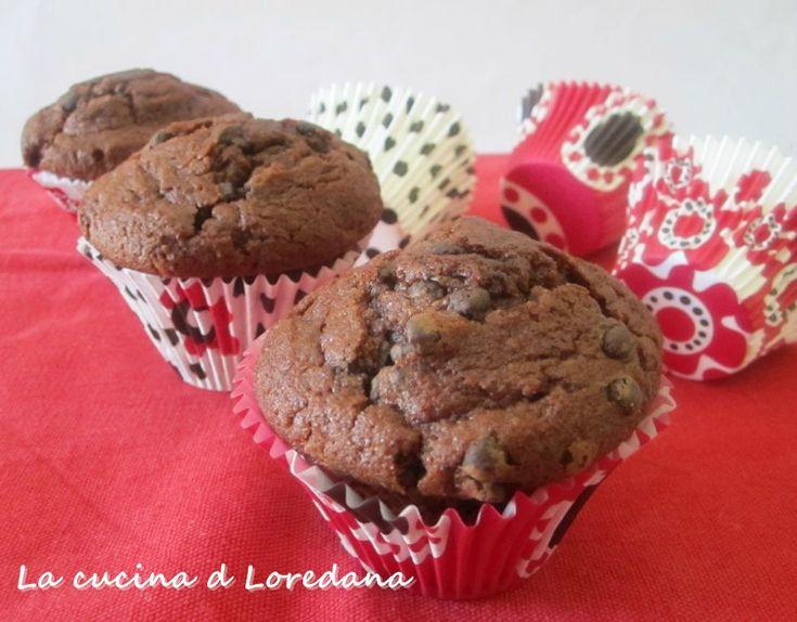 Muffin al doppio cioccolato - Ricetta golosa | La cucina di Loredana