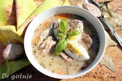 Di gotuje: Barszcz biały na żeberkach (z jajkiem i białą kieł...