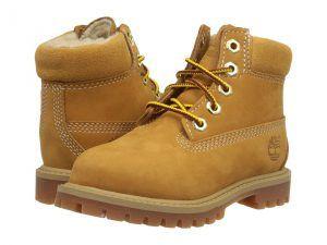 Timberland Kids 6 Premium w/ Faux Shearling (Toddler/Little Kid) (Wheat Nubuck) Kids Shoes