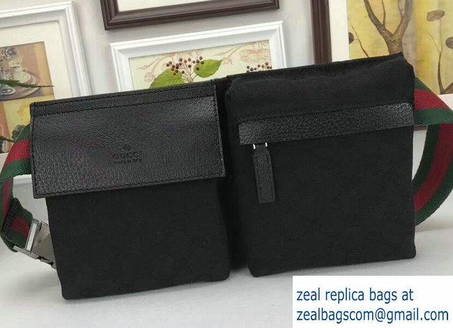 a56770df6f6 Gucci GG Canvas Bum-Bag Waist Belt Bag 28566 Black