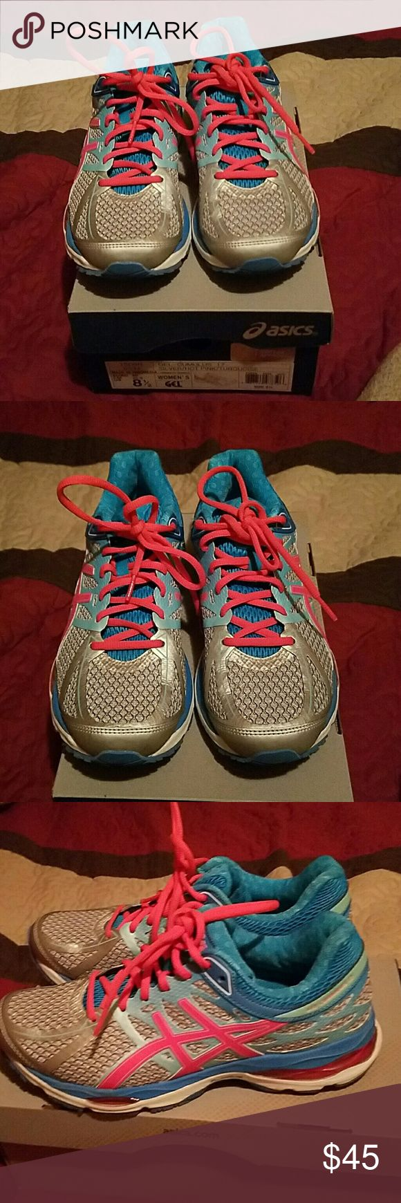 Balck friday sale ASICS Like New, used once. Gel-cumlus 17 silver/pink Asics Shoes Sneakers