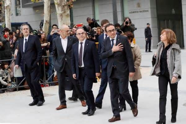 Spanish judge sends eight former Catalan officials to jail Nov. 2 (UPI) --A Spanish high court judge on Thursday ordered former deputy Catalan premier Oriol Junqueras and seven other ousted officials jailed, after they were ordered to testify concerning their roles in Catalonia's bid for independence. Judge Carmen ...
