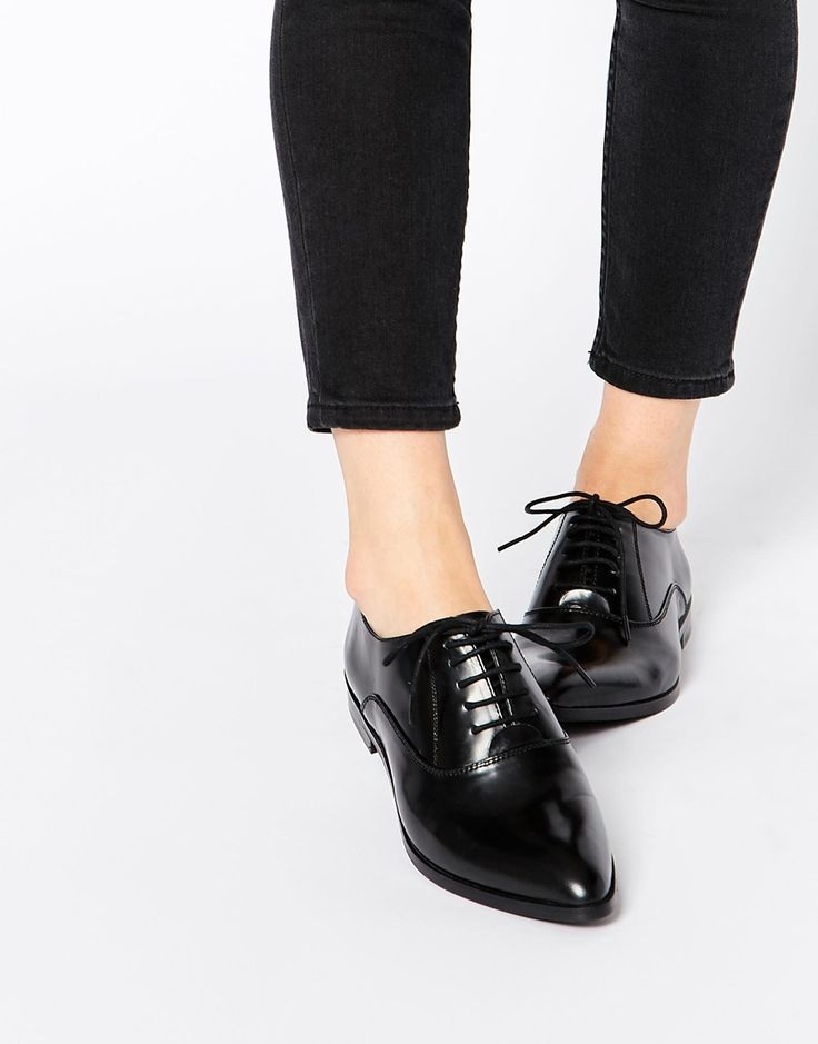 Park Lane Point Lace Up Leather Flat Shoes.  And the ASOS shoe obsession continues..