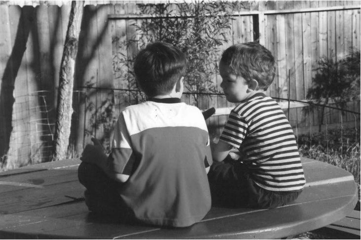 boys on the table