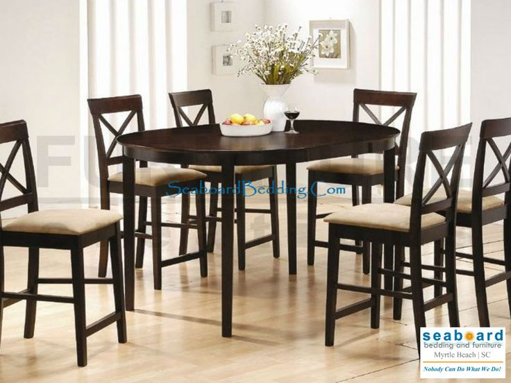 This Simple And Stylish Counter Height Table Chair Set Will Be The Perfect Addition To