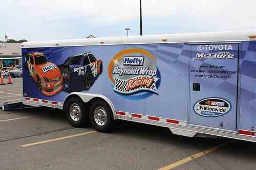 Eric McClure #14 Hefty Show car haulers