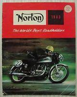 NORTON MOTORCYCLES Range Sales Brochure 1963 ES2 Navigator MANX Dominator 88