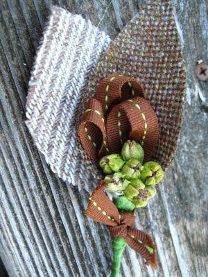 This boutonniere is perfect for rustic weddings.