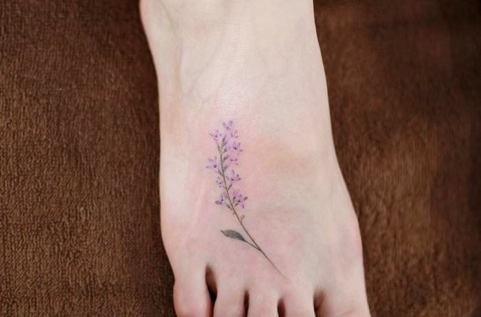 Glamorous Lilac Tattoos Lilac Branch By Kristy Naumann Lilac Tattoo Foot Tattoos Lavender Tattoo