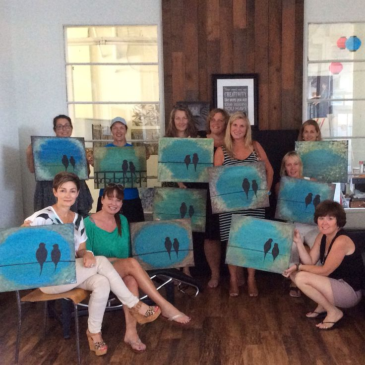 SH Private Event Painting Party @100BraidSt - Lovebirds - 07/12/2014 More photos at:  https://www.facebook.com/100BraidSt