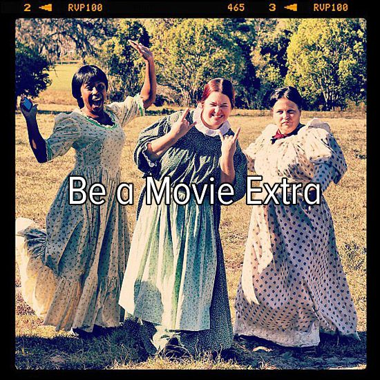Bucket list: be a movie extra. This is my dream! I want to be an actress, but I want to start out with being an extra. :D
