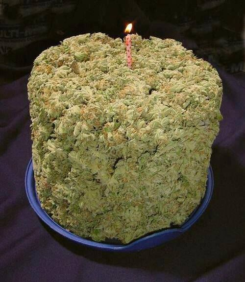 weed cake ....? Lol I don't know weather to eat it...or smoke it. Light it up!